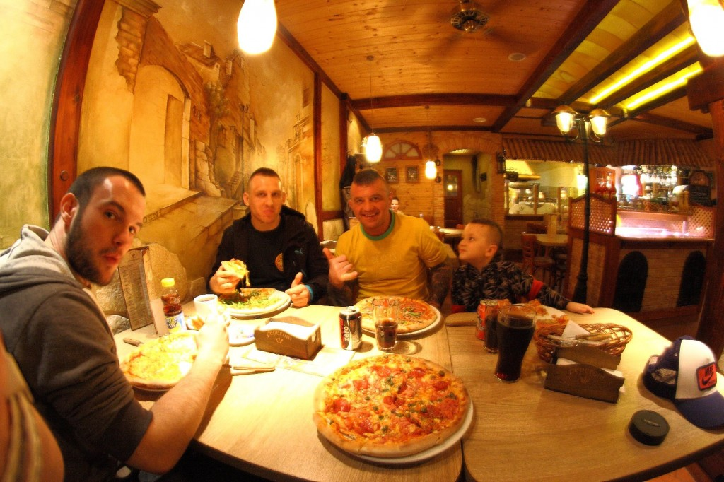 Mariusz Linke and Pizza